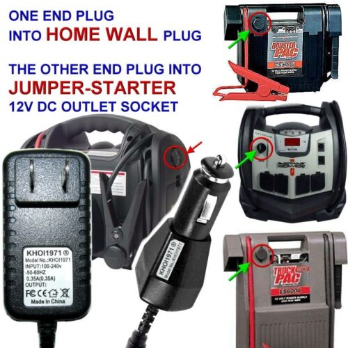WALL Charger adapter for Jump N Carry JNC1224 portable jump starter car battery