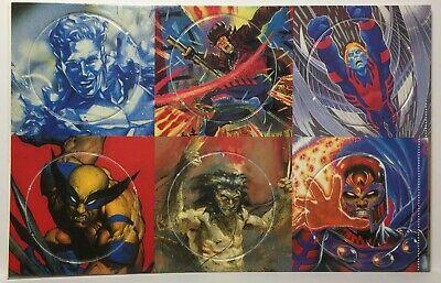 Milk Cap Vintage Pogs Full Set of 6 Unpunched 1994 Fleer X-MEN