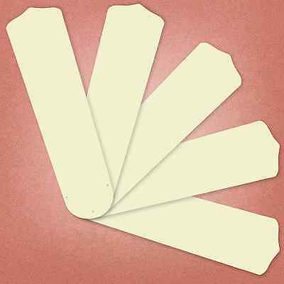 """Ivory Replacement Blades for 52"""" Ceiling Fan - 5-pack 20.5"""" L _236-B89"""