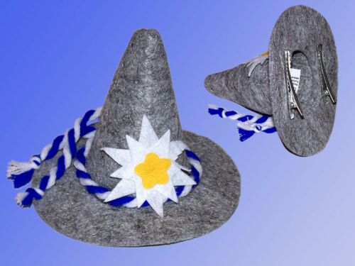 Carnival Hat Felt Bavarian Hat with Flower Party