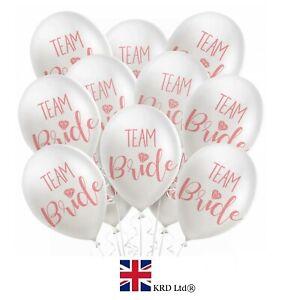 DéVoué 12 X équipe Mariée Ballons Enterrement Vie Jeune Fille à être Imprimé Rose Latex Décoration Pack Uk-afficher Le Titre D'origine