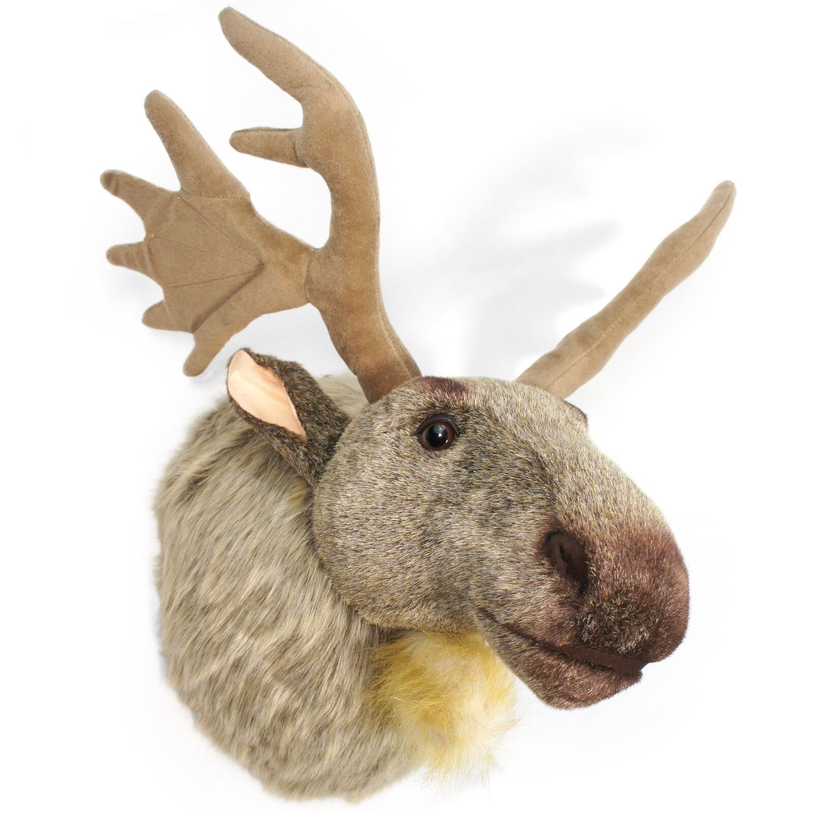 Muscovy the Moose | 24 Inch  With Antlers  Plush Head Wall Mount Bust