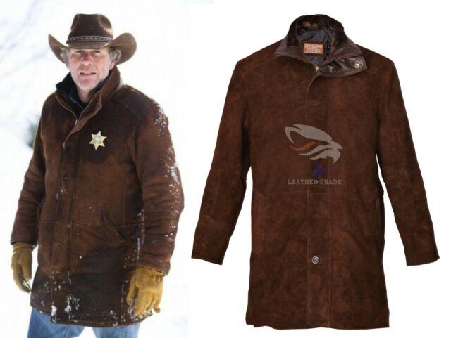 9b9b2aa67 LONGMIRE SHERIFF WALT-ROBERT TAYLOR SUEDE LEATHER COAT JACKET XS S M L XL  XXL