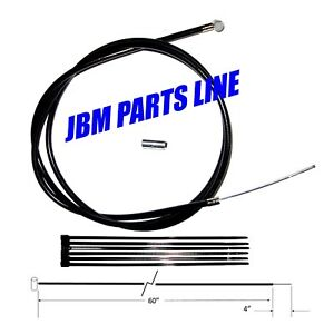"Go Kart, Mini Bike Chopper,  Drift Trike Brake Cable Kit 64"" with band pin"