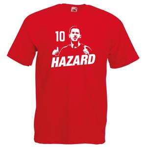 Eden Hazard BELGIUM Number 10 Silhouette T-Shirt Football World Cup Belgian TEN