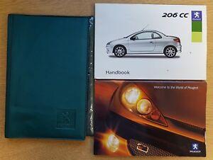 genuine peugeot 206 cc owners manual handbook wallet 2003-2007 pack