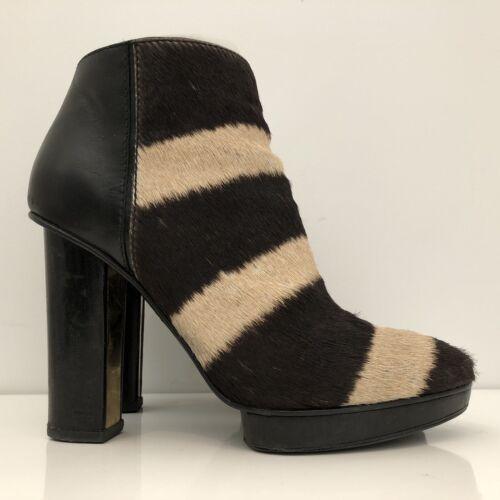 Devi Kroell Zebra Ankle Boots - Size 39
