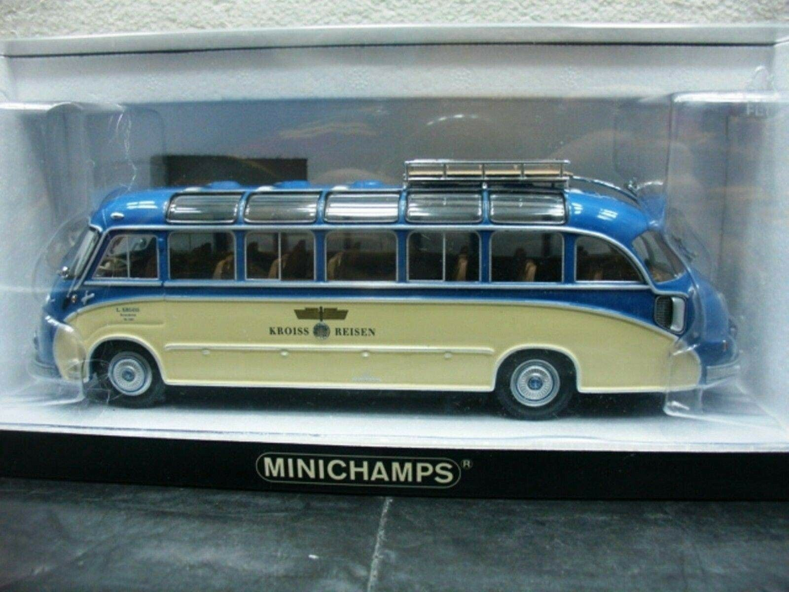 WOW EXTREMELY RARE Setra S8 Bus Panorama 1953 Kroiss Travel 1 43 Minichamps-MAN