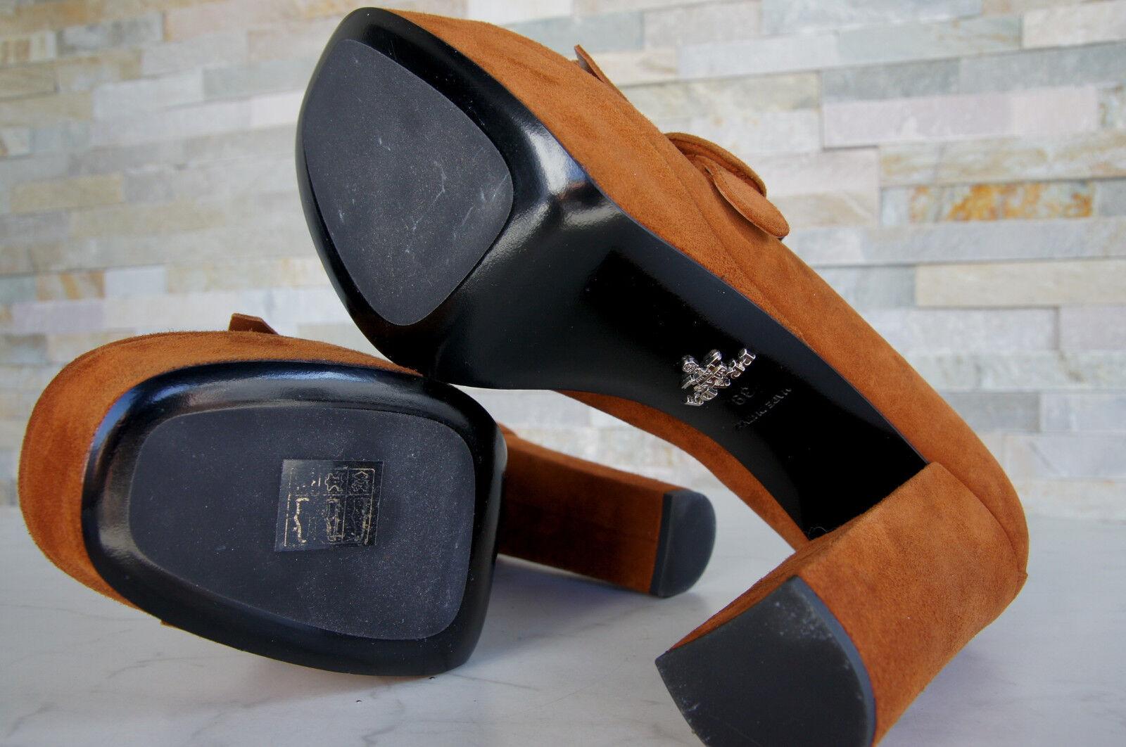 Luxus Prada Gr 1D889G 37 Pumps Plateau Schuhe Heels 1D889G Gr braun neu 84c709