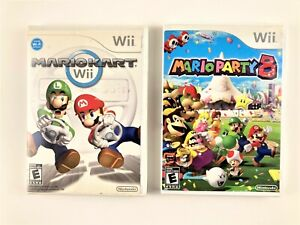 Mario-Kart-2008-Mario-Party-8-2007-Nintendo-Wii-VIDEO-GAMES-w-Manuals