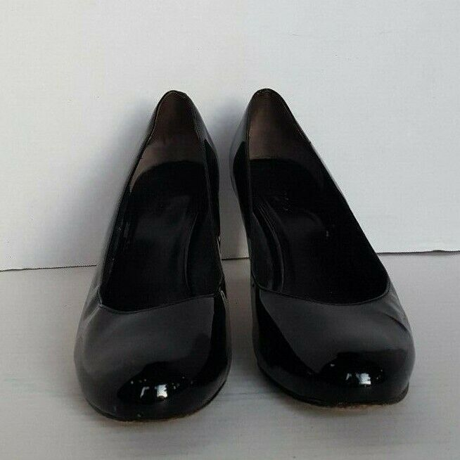 COLE HAAN WOMEN'S PATENT LEATHER HIGH HEELL PUMPS SHOES BLACK 7B