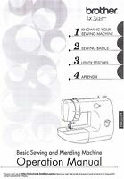 Brother Lx3125 Sewing Machine Users Guide Owners Instruction Manual Book