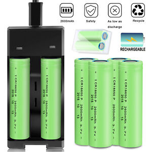 2600mAh-INR-18650-Battery-Rechargeable-3-7V-Li-ion-Batteries-With-Case-Charger