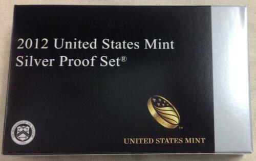 Complete w// Original Box and COA 2012 US MINT SILVER PROOF SET
