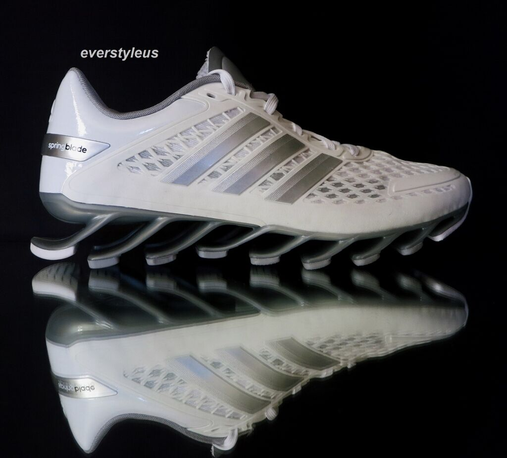 best service f1585 8cd4b ... NEW ADIDAS Springblade Women s Junior Running Shoes Shoes Shoes M21922  White Silver Grey ...