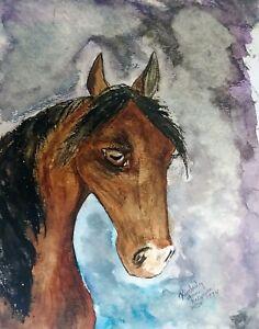 ARABIAN-MARE-Head-Study-Arab-Horse-Art-Print-8-x-10-KSAMS-Signed-Limited-Edition