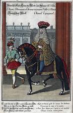 REITEN SPANISCHES PFERD sehr schön kolorierter Kupferstich Engelbrecht Original