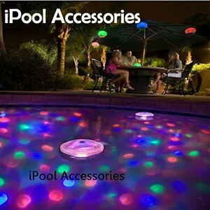 Multi colored underwater light show led lights aqua glow for Pool light show walmart