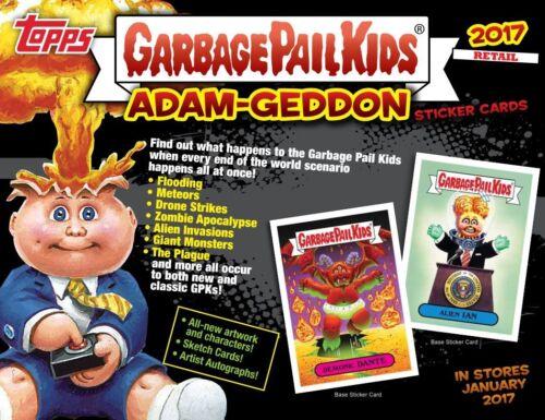 5 Packs + 3 Gross Bear Stickers 2017 Adam-geddon Trading Card BLASTER Box