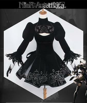 NieR:Automata 2B YoRHa No. 2 Type B Heroine Dress Cosplay Costume + full set