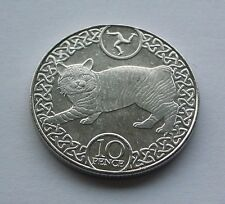 ISLE OF MAN MANX CAT 10p COIN ISSUED APRIL 2017 NEW FROM TOWER MINT (IN HAND)