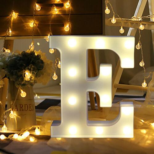 Large LED Light Up Alphabet Letter Number Lights Standing Hanging Wedding Party