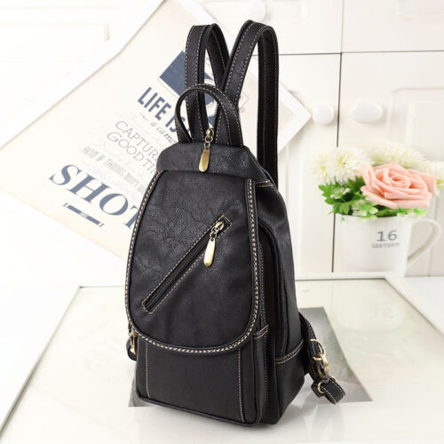 Convertible Faux Leather Small Mini Backpack Rucksack Sling bag Purse Cute Bag