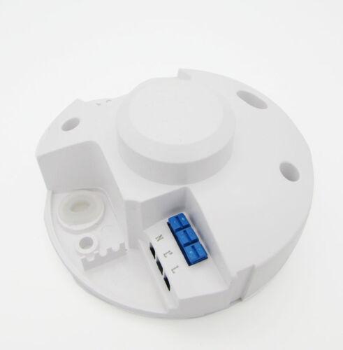 Micro-ondes 360 Degré capteur radar Interrupteur De Lumière corps Détecteur de mouvement 110 To 240 V