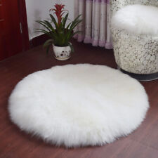40cm Artificial Wool Fluffy Carpet Kids Play Mat Furry Floor Seat Cushion Dia