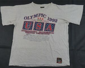 76da09a0e Rare Vintage JCPENNEY Team USA 1992 Summer Olympic Games T Shirt 90s ...