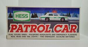 Hess 1993 Toy Truck Patrol Car NEW IN BOX!!