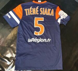 Maillot-jersey-shirt-psg-mhsc-Montpellier-tiene-siaka-worn-porte-13-14-evian