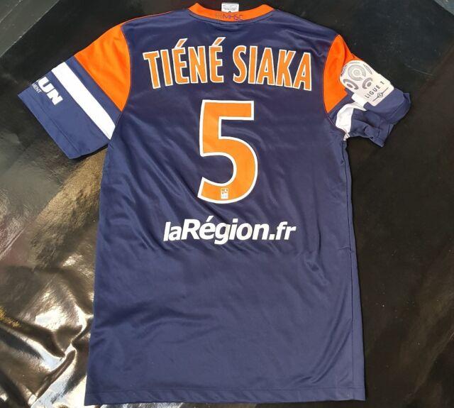 Maillot jersey shirt psg mhsc Montpellier tiene siaka worn porté 13/14 evian