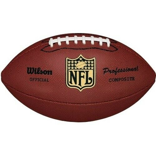 Wilson NFL Pro Replica Game Football Official Size Authentic Ball Grip Leather