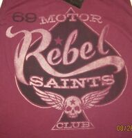 Rebel Saints By Affliction anarchy In The Streets Long Sleeve Top Motor Club