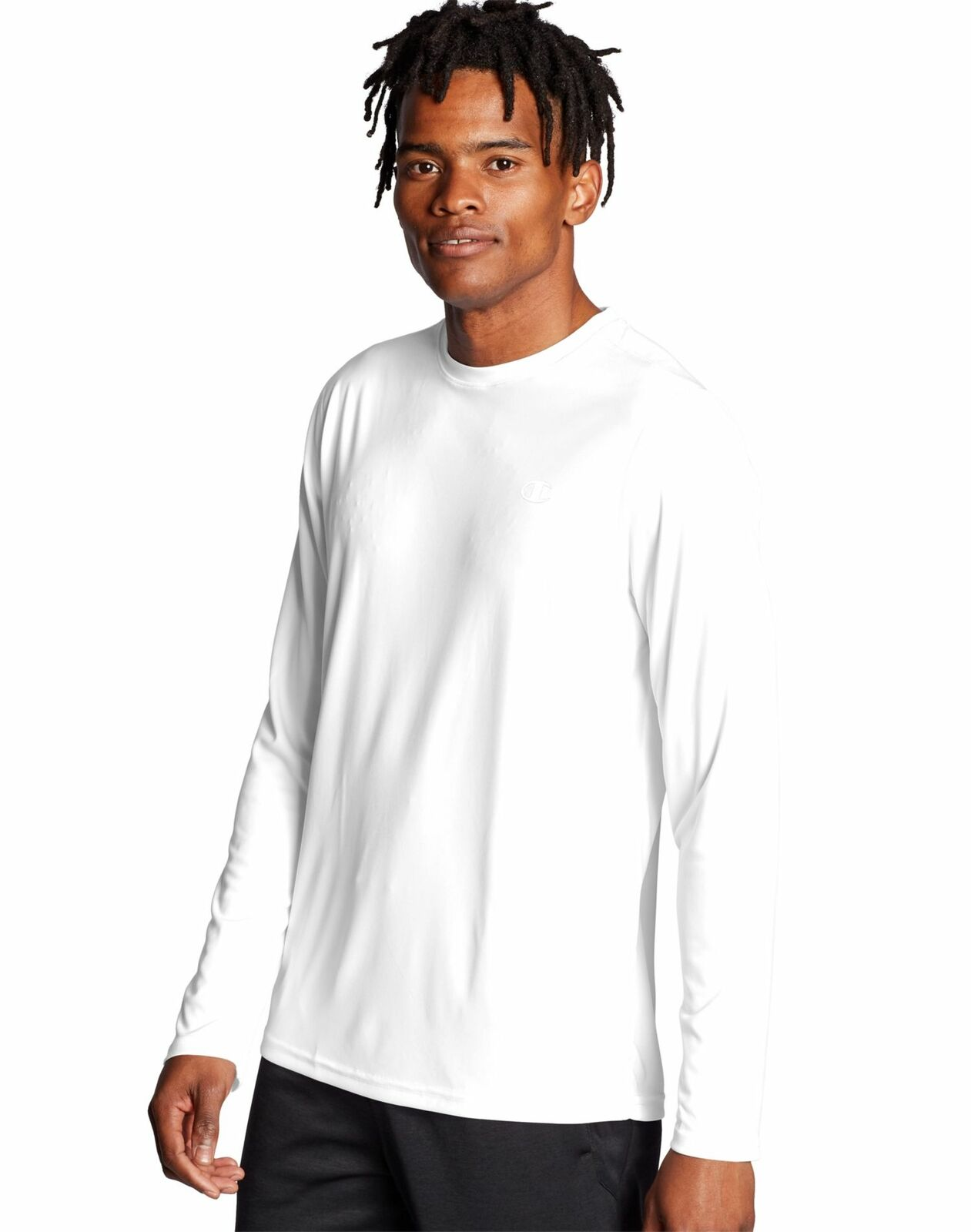 CHAMPION T-shirt à manches longues T-Shirt Hommes Double Dry Core Wicking Plain Athletic Fit