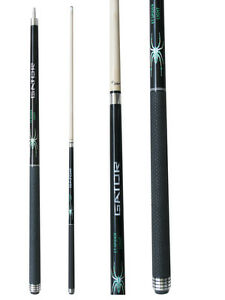 Champion-Black-Spider-Pool-Cue-Stick-3-8X10-Joint-Cuetec-Billiards-Glove