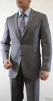 2 Piece Mens Solid Slim Fit Suit Formal Prom Groomsmen Business Meeting Office