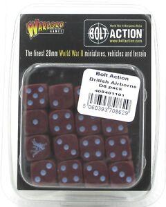 Bolt-Action-408401101-British-Airborne-D6-Pack-16-Dice-WWII-Maroon-Pegasus-NIB
