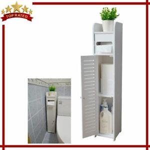 BATHROOM CABINET Storage Corner Floor Shelf with Doors ...