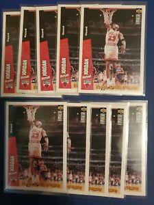 10X 1996-97 Upper Deck Collector's Choice Slam Dunk Series Michael Jordan #4 HOF