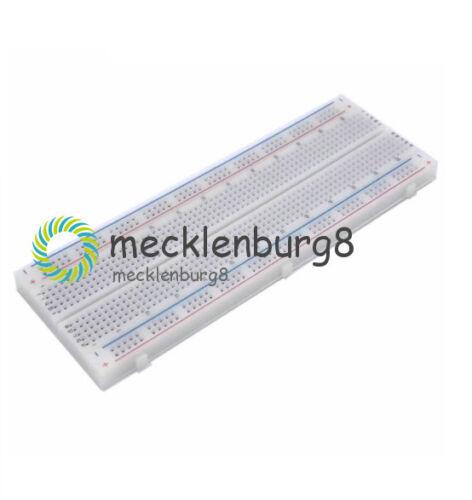 MB-102 Solderless Breadboard Protoboard 830 Tie Points 2 buses Test Circuit New