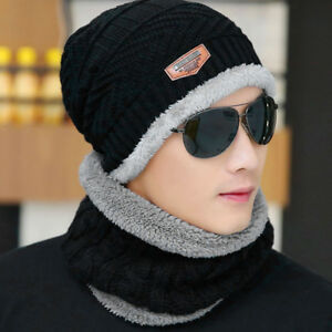 2pcs-set-Men-039-s-Winter-Beanie-Hat-Scarf-Warm-Knitted-Skull-Cap-with-Scarf-Unisex