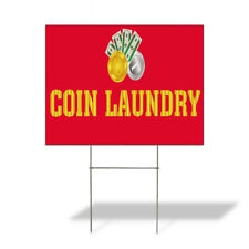 Weatherproof Yard Sign Coin Laundry Outdoor Advertising Printing B Lawn Garden