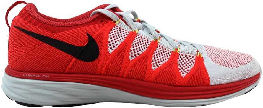Nike Platinum/ Flyknit Lunar2 Pure Platinum/ Nike Noir -Bright Crimson-Red 620465-006 SZ 11 6a1444