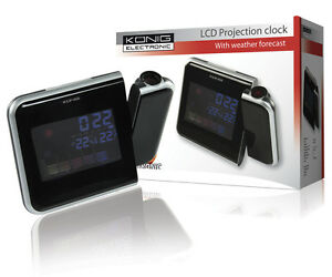 STATION-METEO-COULEUR-HORLOGE-A-PROJECTION-REVEIL-SNOOZE-THERMOMETRE-HYGROMETRE