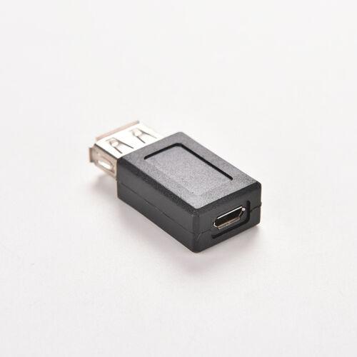 USB 2.0 A Female to Micro USB B 5 Pin Female Data Adapter Convertor PVCA FF