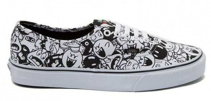 NEW Special Edition Nintendo x Vans Mario Villains Shoes Black White Rare