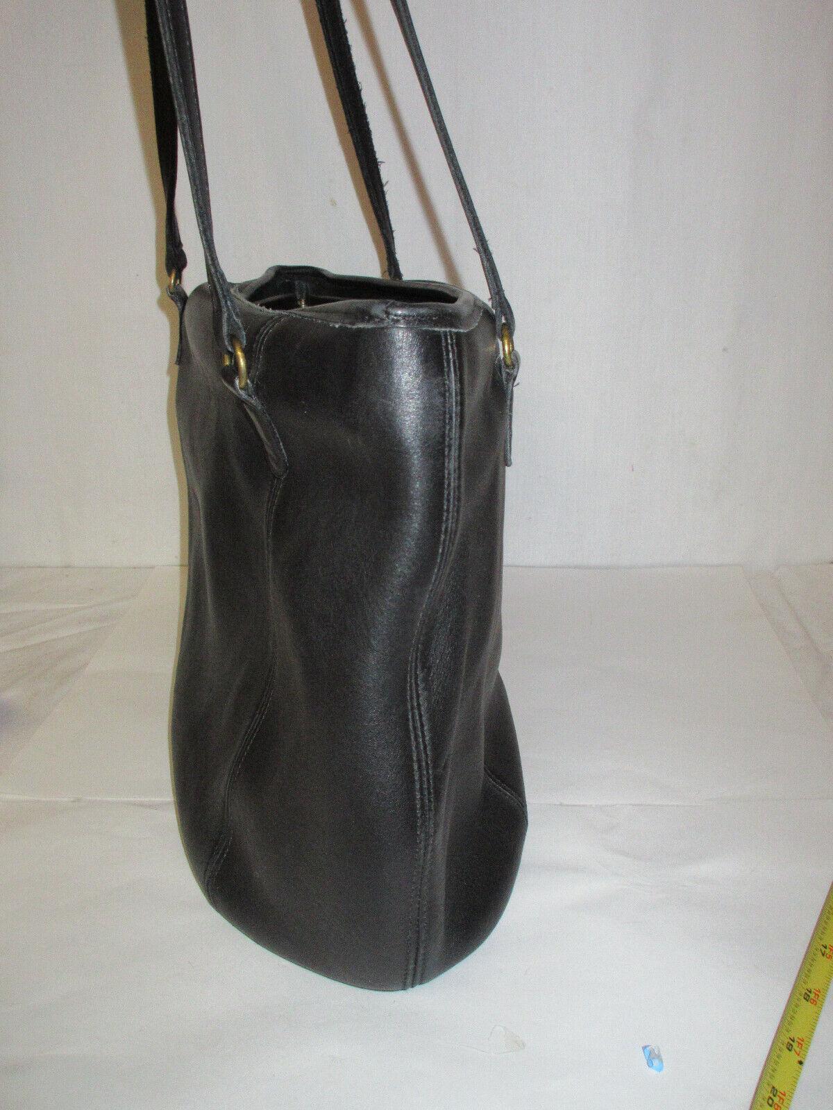 Vtg COACH 9998 Black Leather Large Framed Pouch H… - image 3