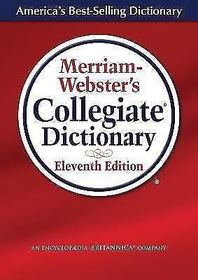Merriam-Webster's Collegiate Dictionary, 11th Edition, Laminated Hardcover, Plai